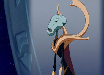 Grand Councilwoman of the United Galactic Federation and Captain Gantu